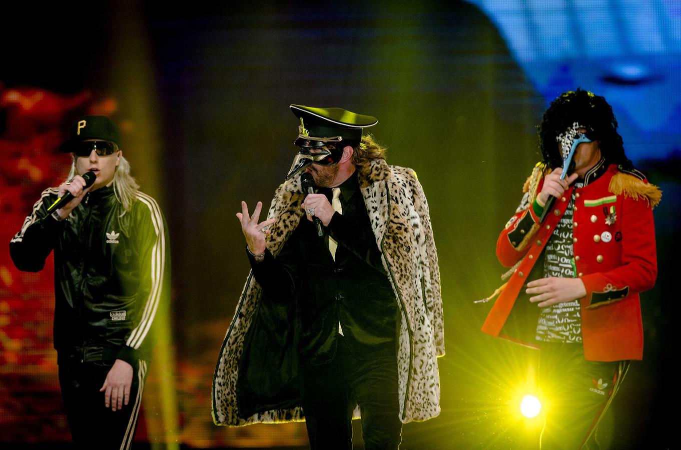 De Kraaien tijdens een optreden in 2013.