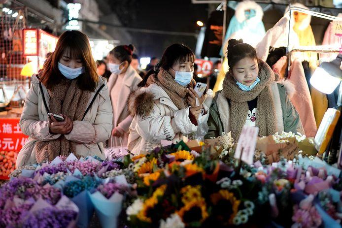 Markt in Wuhan.