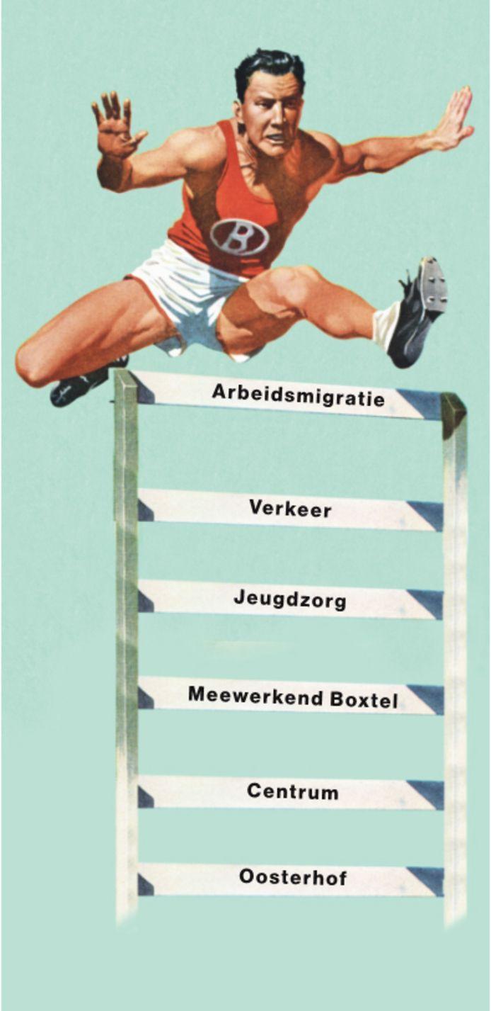 Veel hindernissen voor de gemeente Boxtel.
