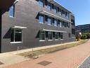 De gebouwen van de Scheepvaartschool aan de Gloriantlaan op LInkeroever
