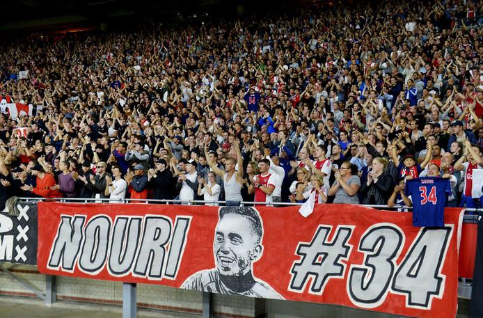 Abdelhak Nouri wordt door de fans van Ajax niet vergeten.