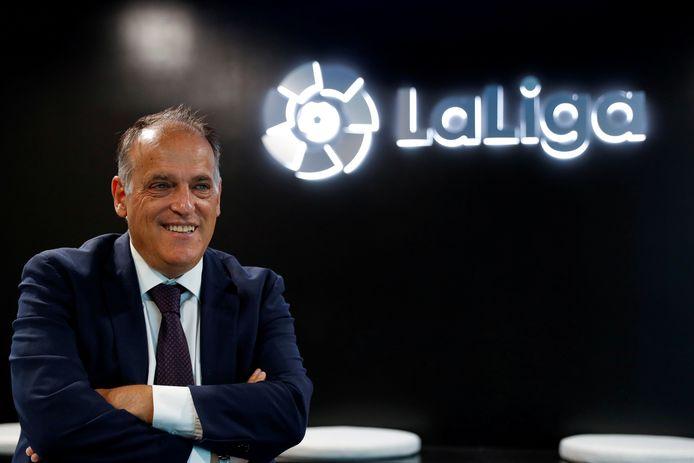 Javier Tebas, voorzitter La Liga.