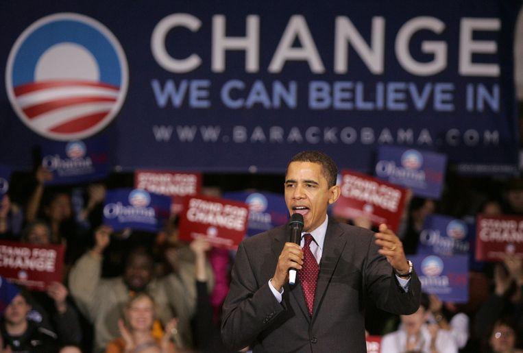 Barack Obama in Iowa, 2008 Beeld anp