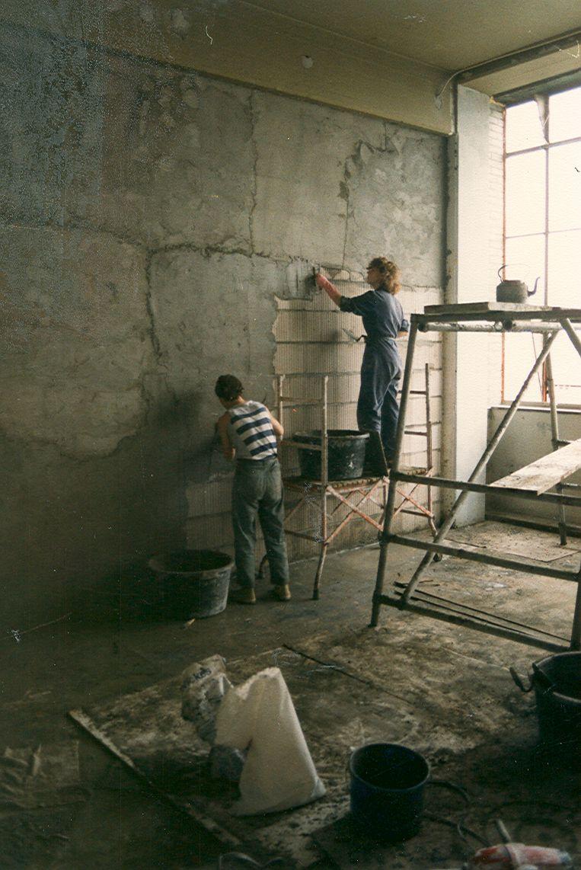 Bewoners renoveerden hun eigen huis.  Beeld