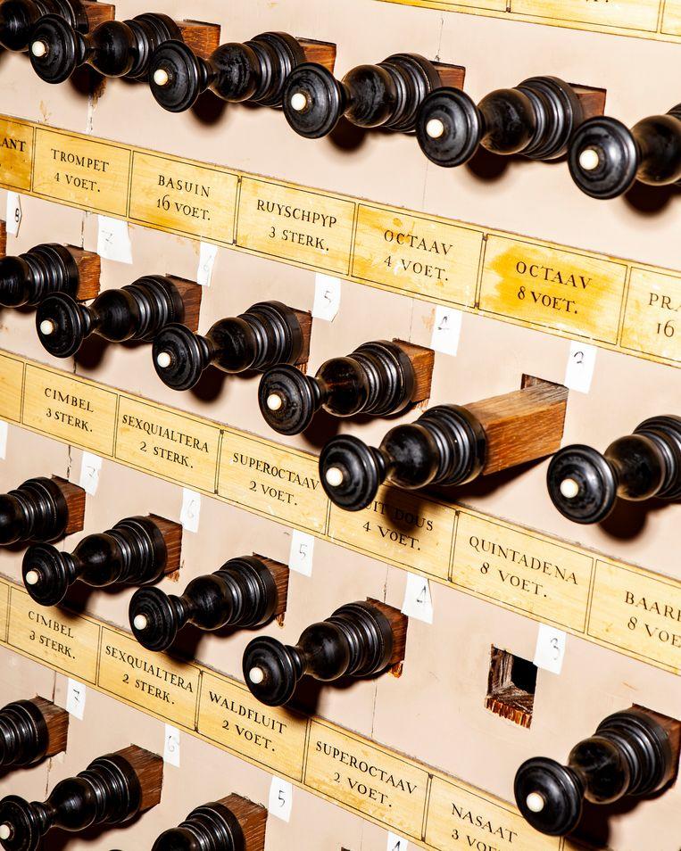 Het Van Hagerbeer-Schnitger-orgel in de Grote Laurenskerk in Alkmaar. Beeld Hilde Harshagen
