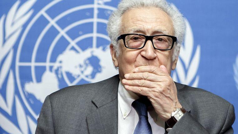 VN-bemiddelaar Lakhdar Brahimi: 'We gaan door.' Beeld epa