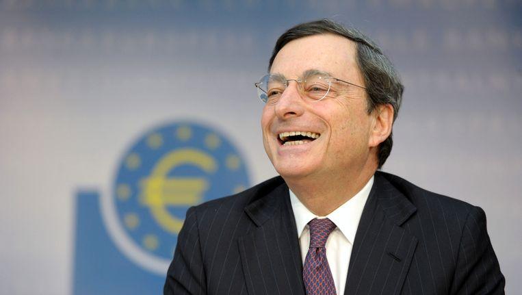 De president van de Europese Centrale Bank Mario Draghi. Beeld ap