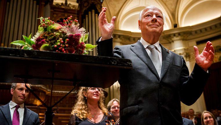 Bernard Haitink in 2014. Beeld anp