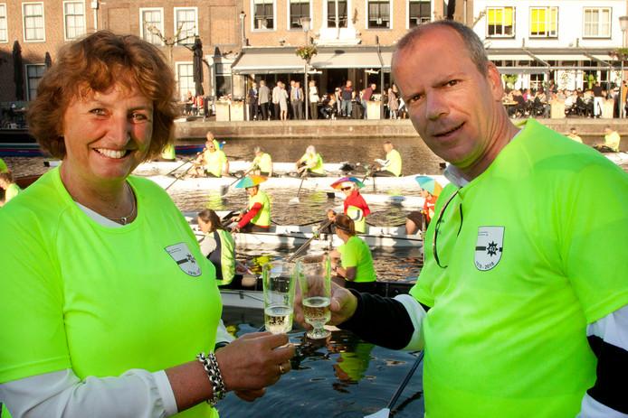 Burgemeester Liesbeth Spies en wethouder Gert-Jan Schotanus