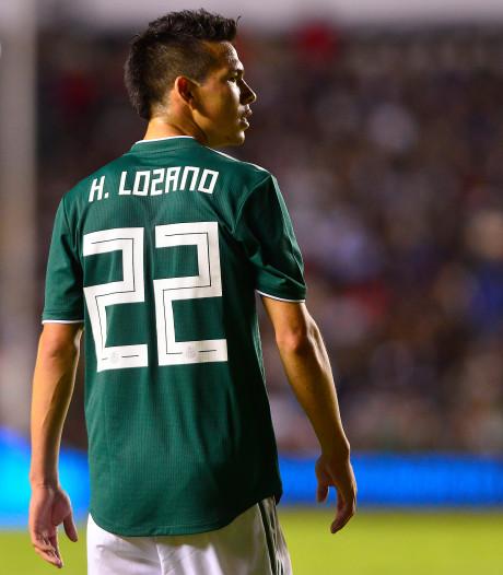 Lozano meldt zich met spierblessure af voor interlands van Mexico