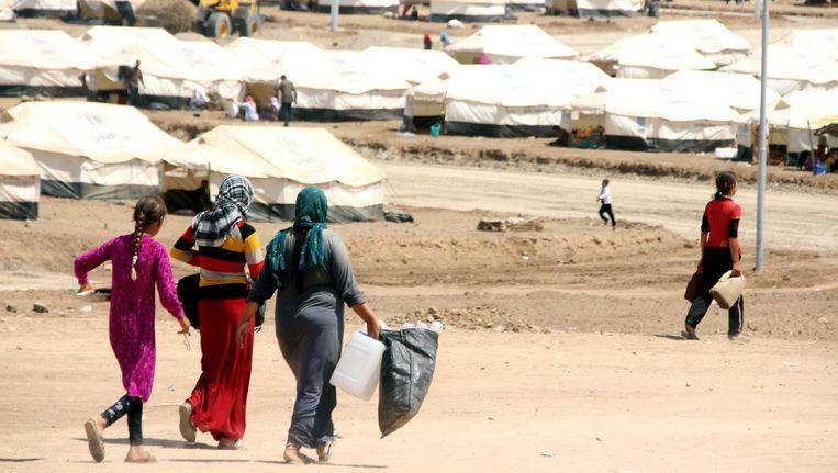 Een kamp voor jezidi-vluchtelingen in Noord-Irak Beeld epa