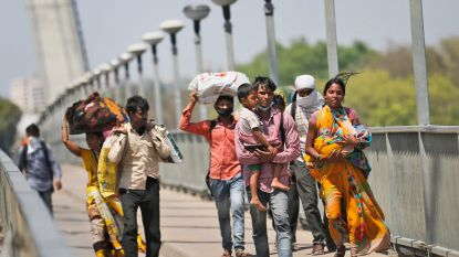 Rellen in India om lockdown, politie vuurt traangas af op honderden arbeidsmigranten