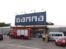 Gaslek bij bouwmarkt Gamma in Rijssen