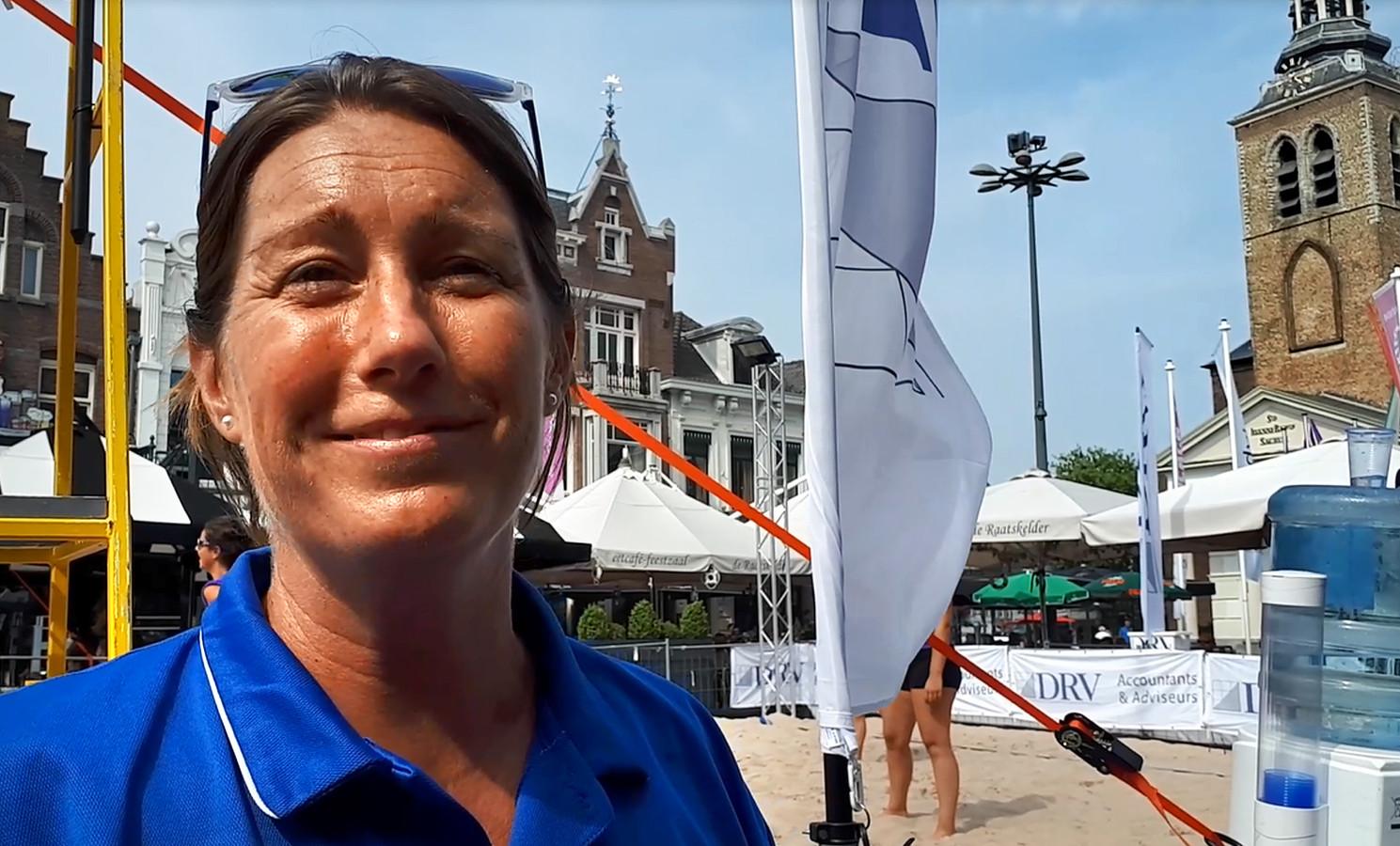 Organisator Meike van Wezel is heel blij met nieuwe onderdelen van Beach Event Roosendaal