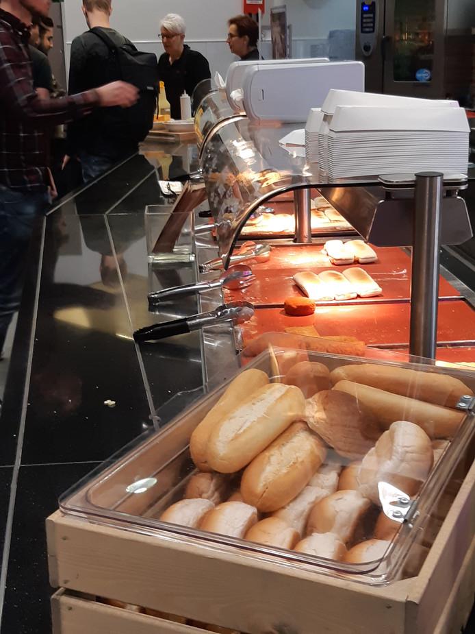 Broodjes in de kantine van Avans Hogeschool in Den Bosch