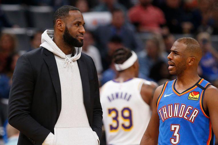 Ster LeBron James speelde niet mee bij de Lakers?