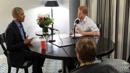 Prins Harry bedreigt Obama met 'het gezicht' tijdens interview
