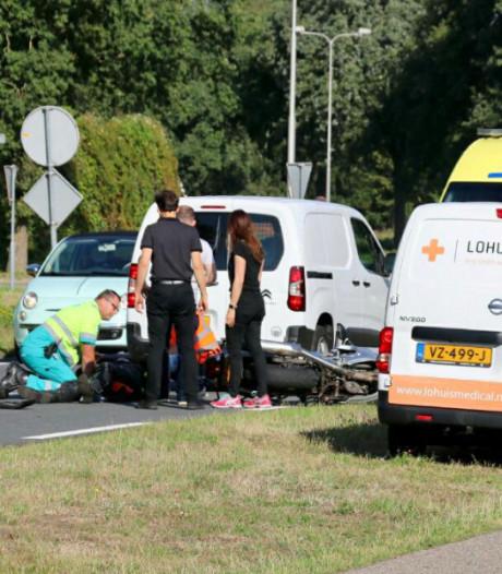 Motorrijder gewond bij aanrijding in Oldenzaal