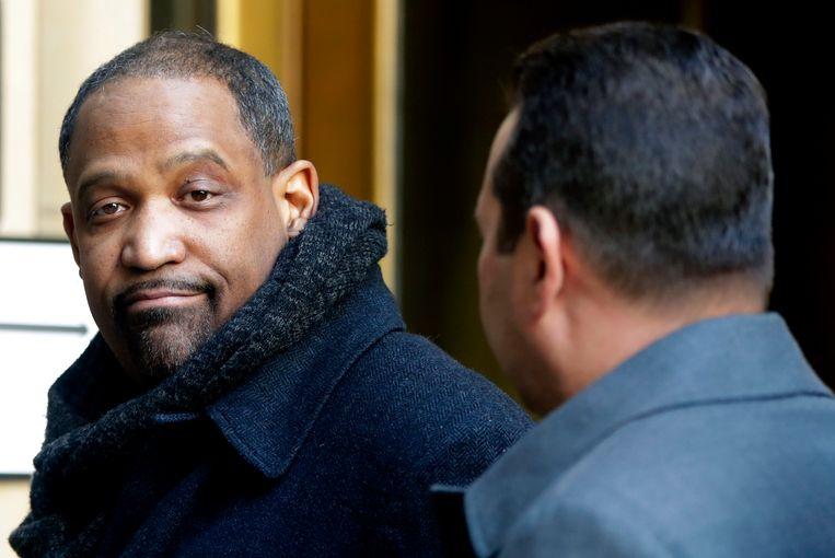 Advocaat Ronald Sullivan Jr. bij het Hooggerechtshof in New York.  Beeld AP