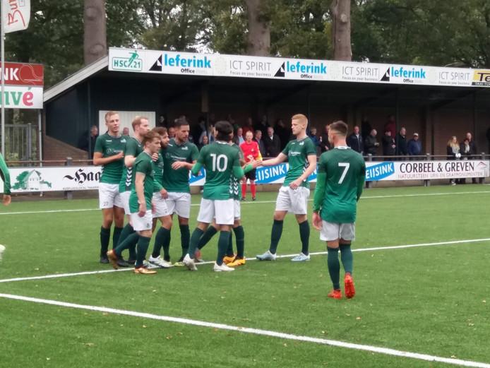 HSC'21 viert de 2-0 van Diego van der Weide tegen Gemert.
