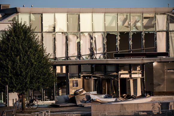 Dinsdag vond in Kopenhagen ook al een explosie plaats bij een gebouw van de Deense belastingadministratie (foto).