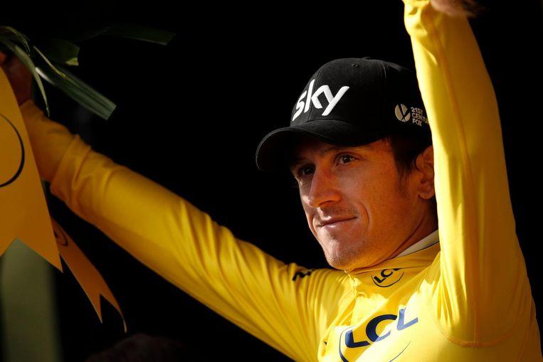Geraint Thomas rijdt in het geel, nog drie Sky-renners staan in de top-10 Beeld anp