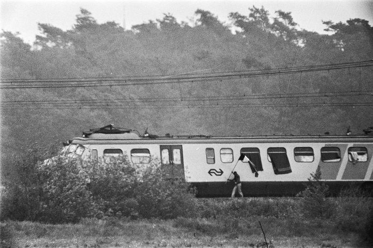 De treinkaping bij De Punt in 1977. Beeld null