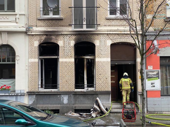 Woningbrand Borgerhout.