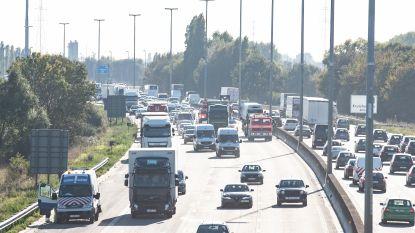 Aanschuiven na reeks ongevallen op E17 in Kruishoutem