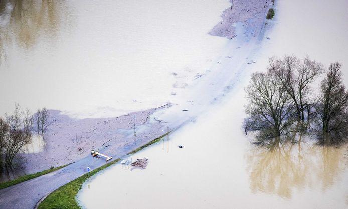 De Rijn ter hoogte van Lobith.