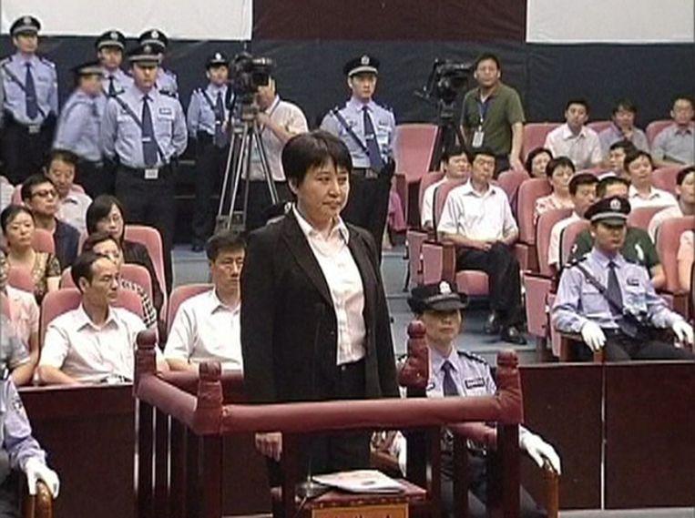 Gu Kailai eerder deze maand in de rechtbank. Beeld reuters