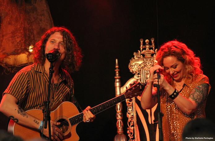 Een optreden tijdens Van Streek.