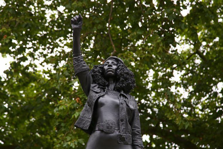 Het standbeeld 'A Surge of Power'. Beeld Hollandse Hoogte / AFP