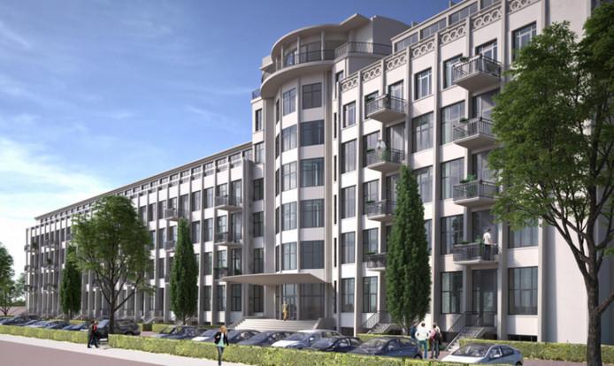 Arabian American Oil Company aan Laan van Meerdervoort omgetoverd tot appartementencomplex.