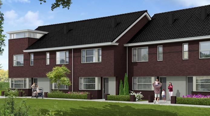 Een impressie van de jaren 30-woningen die gepland worden in Polsvoort.