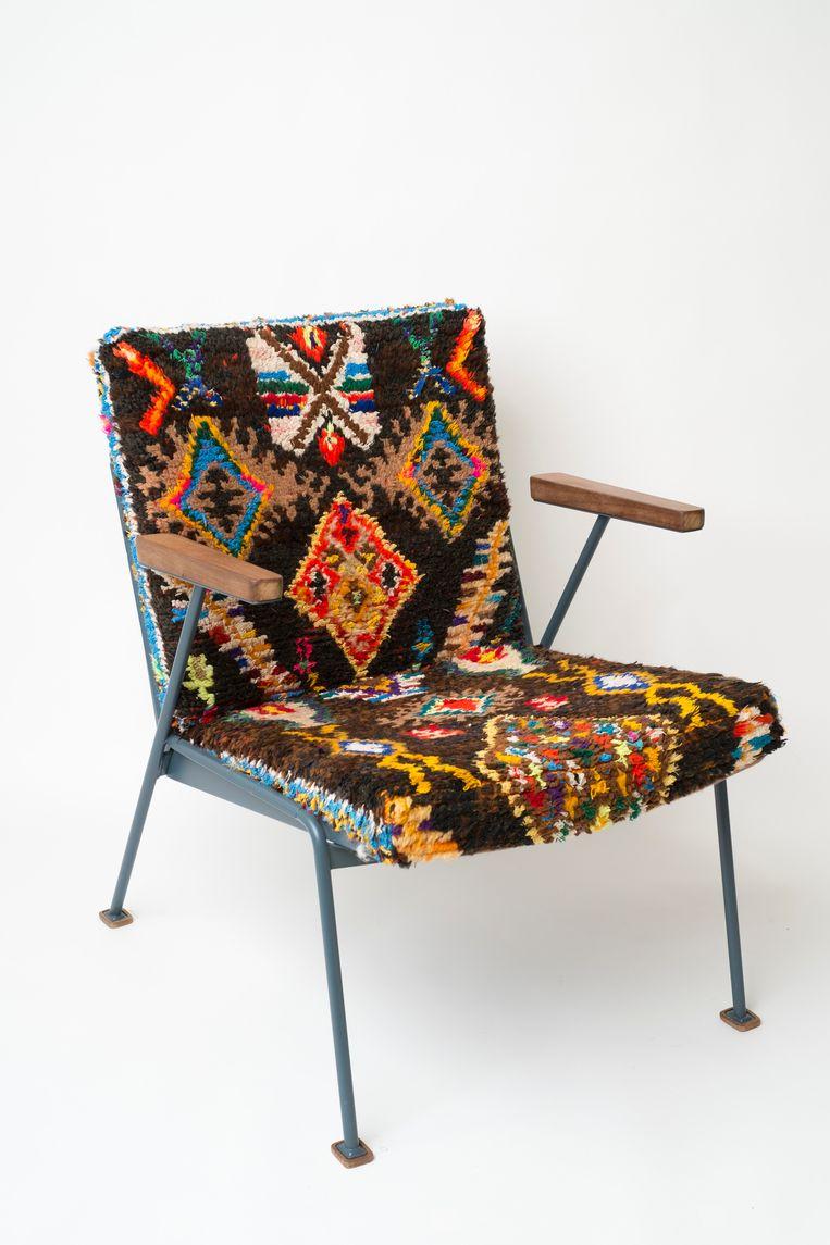 De Rietveld-stoel die het Centraal Museum aankocht.  Beeld
