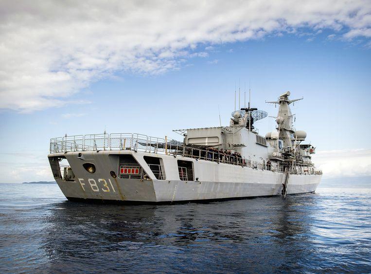 Het fregat Zr. Ms. Van Amstel van de Koninklijke Marine. Beeld ANP
