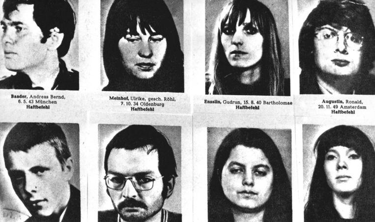 Westduitse terroristen van de Baader-Meinhof-groep in 1975. Beeld ANP