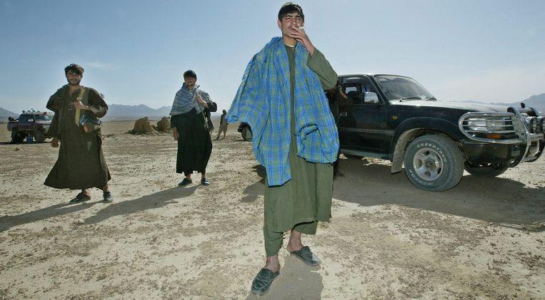 Talibanstrijders beheersen een groot deel van Uruzgan. Beeld EPA