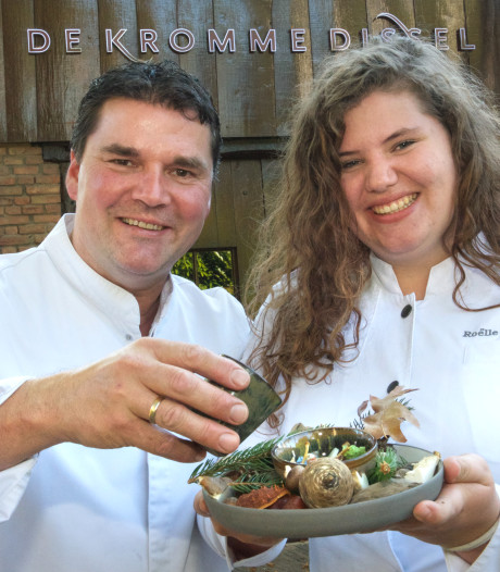 Amuse studente gloreert in sterrenrestaurant in Heelsum