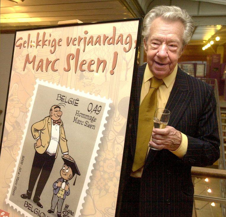 Marc Sleen in 2002, bij zijn tachtigste verjaardag.