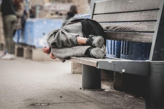 Foto ter illustratie. De Belg Xavier Malice (51) was vier jaar dakloos toen hij ontdekt werd als model.