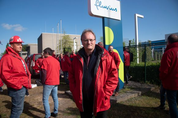 Staking Fluvius : Federaal secreatris Gazelco Jan Van Wijngaerden.