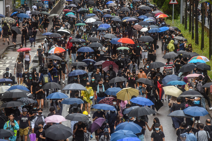 Protesten in Hongkong.
