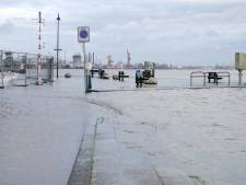 Hoog water in Maas en Rotte door wind en regen