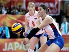 Servië in vier sets langs Italië
