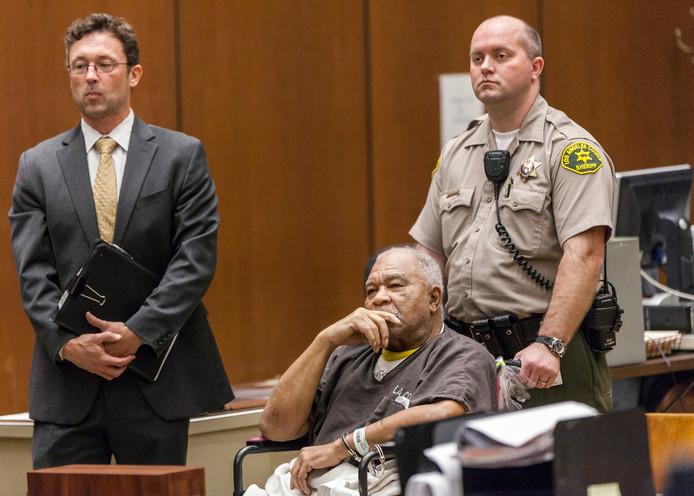 Samuel Little in de rechtbank in Los Angeles in 2013.