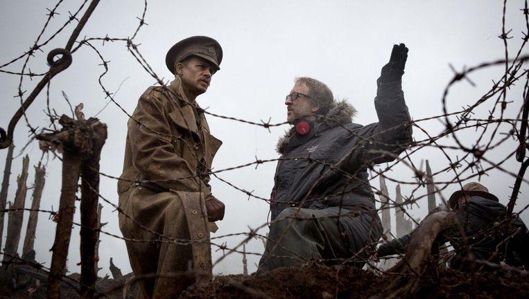 Acteur Charlie Hunnam en regisseur James Gray tijdens de opnamen van The Lost City of Z Beeld