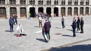 Stiltecirkel voor herdenking Nakba op Grote Markt