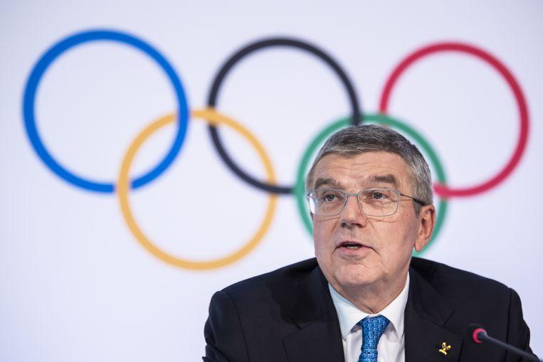 IOC-voorzitter Thomas Bach ging uiteindelijk akkoord met het uitstellen van de Spelen in Tokio